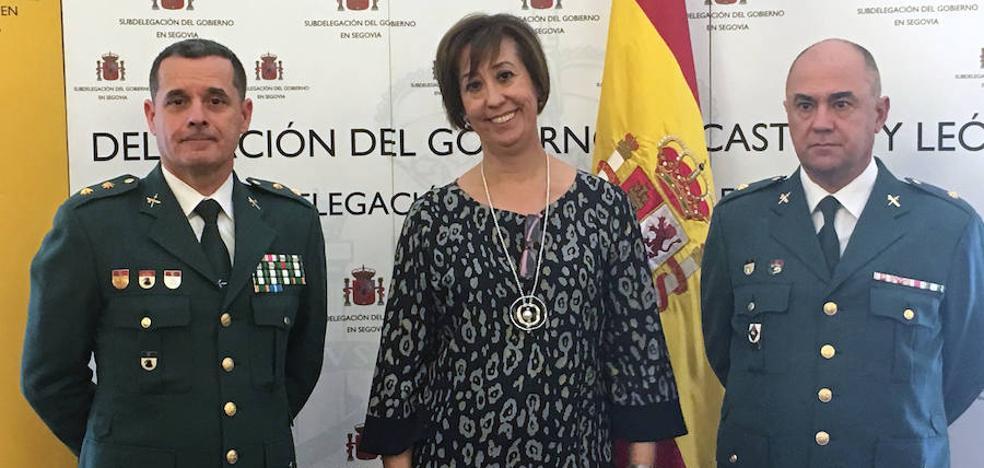 El comandante Jesús García Aller toma posesión en la Comandancia de la Guardia Civil de Segovia