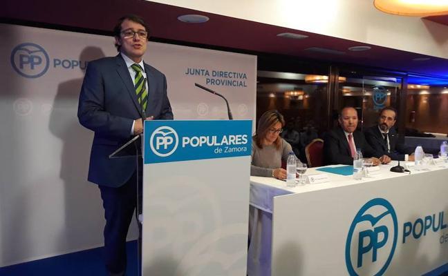 Mañueco llama a recuperar las «mayorías estables» en las elecciones municipales