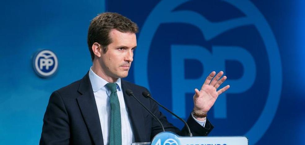 Casado se arrepiente de comparar a Puigdemont con Companys pero cree que hubo una «manipulación torticera»