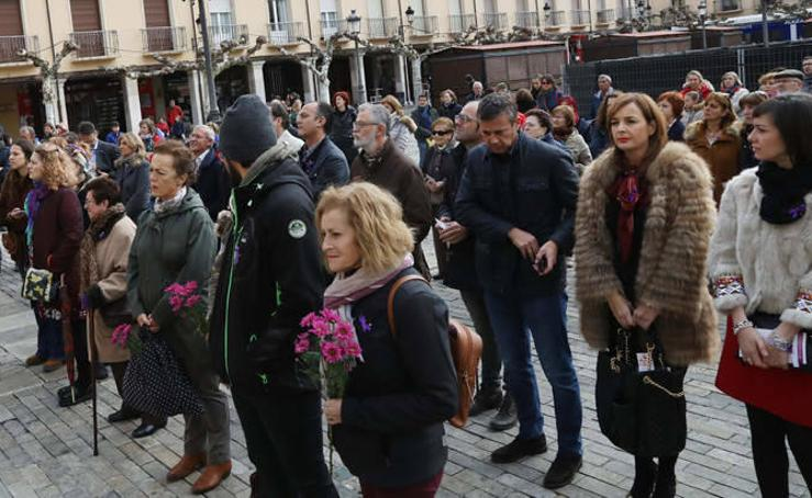 Actos contra la violencia de género en Palencia