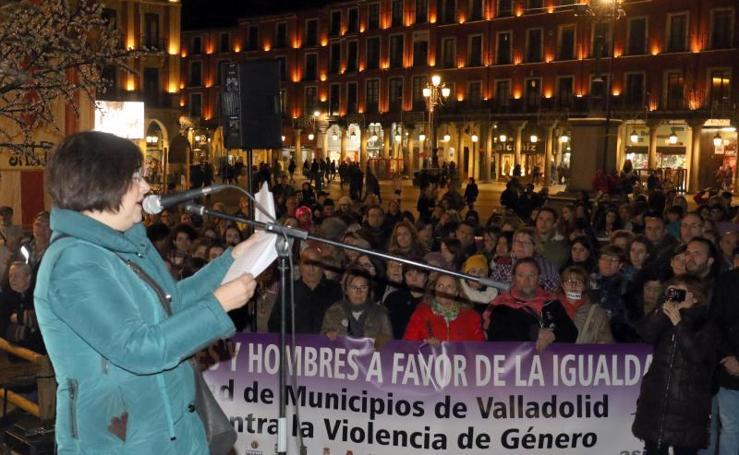 Manifestación en Valladolid contra la violencia de género