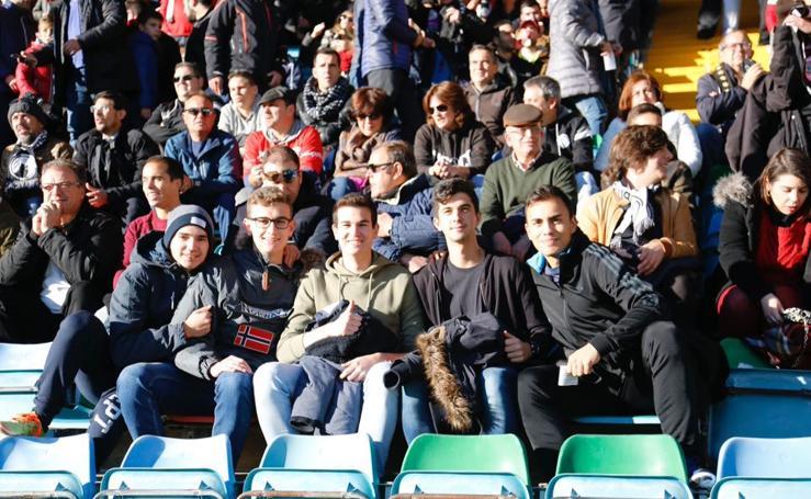 Afición en el estadio Helmántico de Salamanca para presenciar el derbi