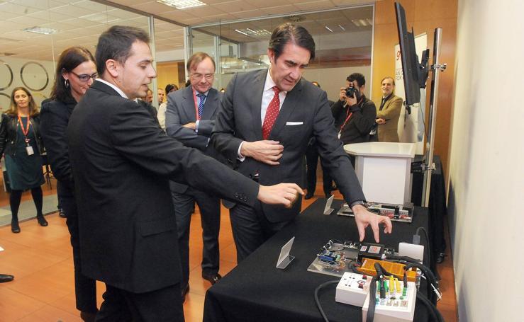 Inauguración de las nuevas instalaciones de la multinacional GMV en el Parque Tecnológico de Boecillo