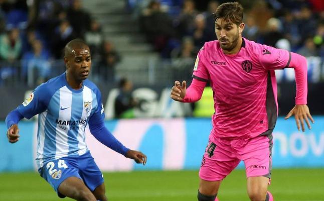 Málaga y Levante siguen en puestos de peligro