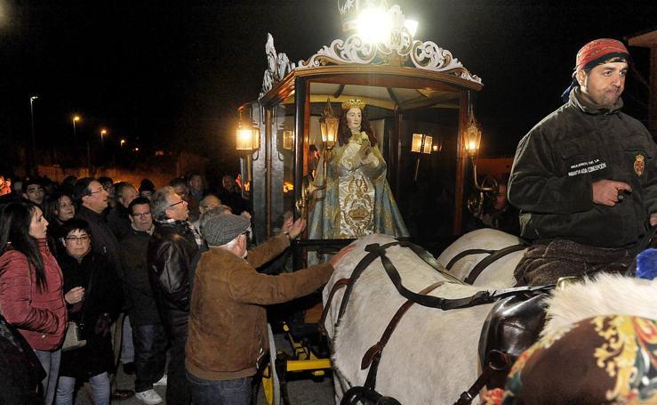 Bajada de la Virgen de los Pegotes en Nava del Rey