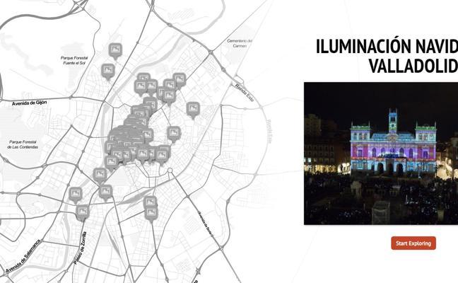 Descubre en este mapa interactivo cómo es la iluminación navideña de Valladolid