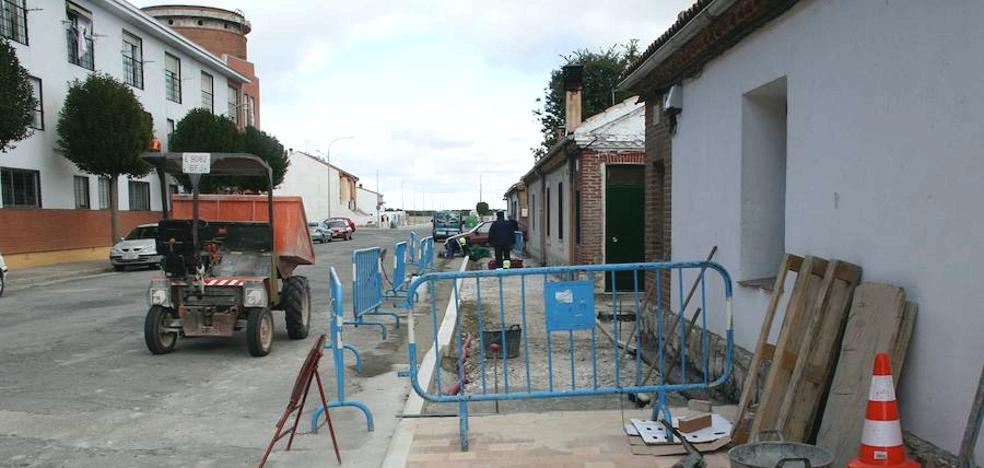Las aceras centran hasta fin de año las obras de Urbanismo en Cuéllar