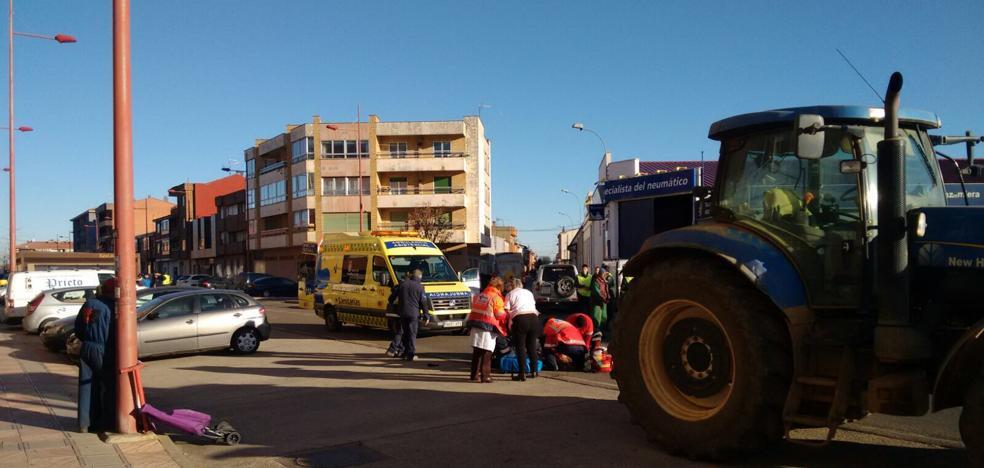 Un tractor atropella a una mujer de 70 años en Valencia de Don Juan