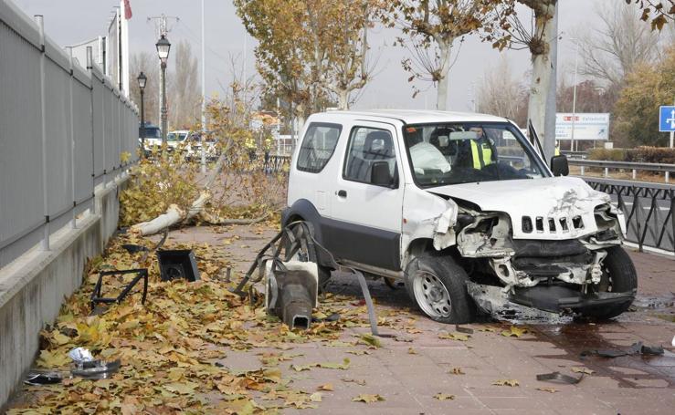 Espectacular accidente en Laguna de Duero