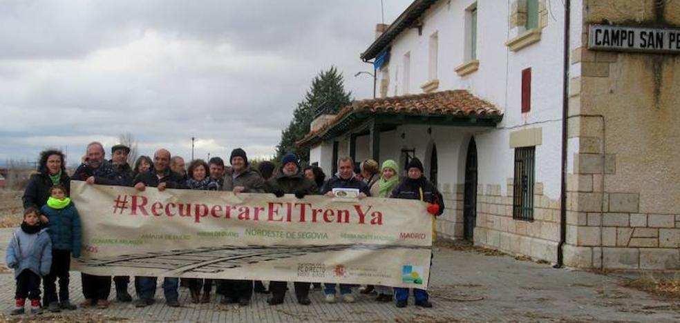 El nordeste de Segovia reivindica el tren de la línea Madrid-Burgos