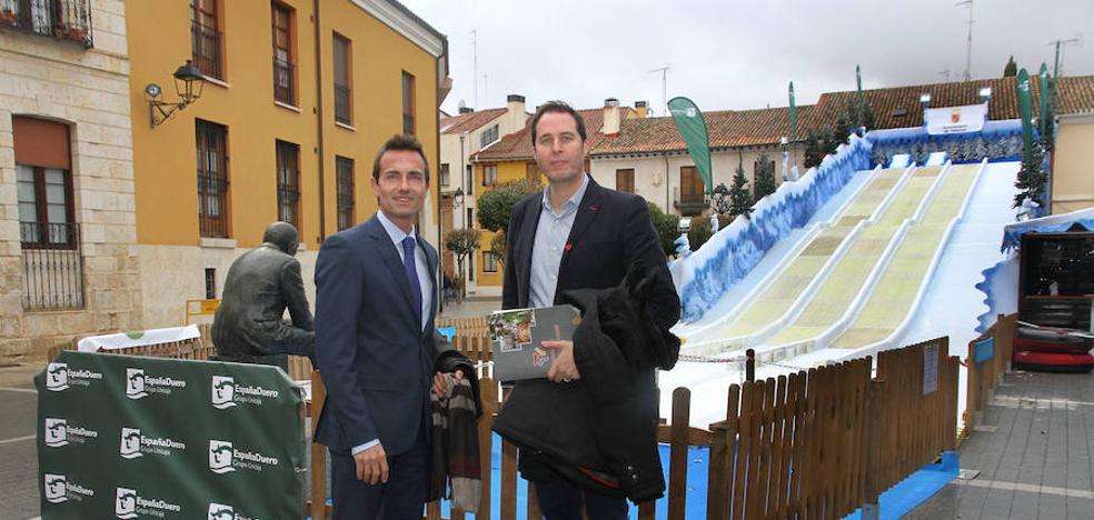 España Duero patrocina el tobogán de trineos junto a la Catedral