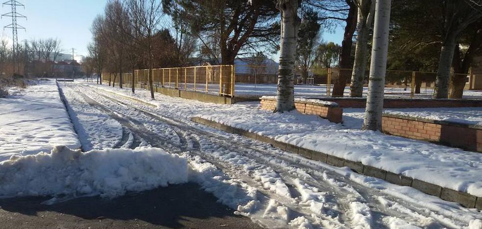 La nieve da paso a la alerta por frío en Palencia