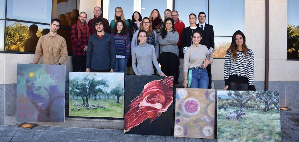 'El oro del jamón' se alza con el primer premio del Certamen 'Lienzos Ibéricos'
