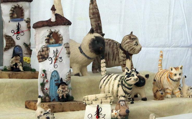 Mercado de artesanía en Segovia