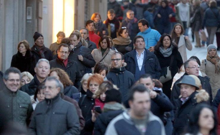 Turistas en Segovia durante el puente de la Constitución