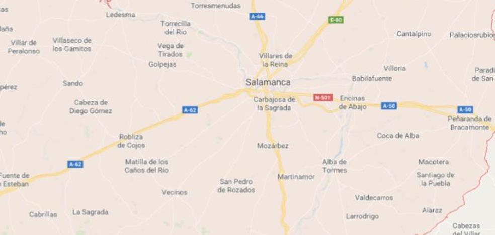 Heridos cuatro jóvenes en tres accidentes ocurridos en Salamanca