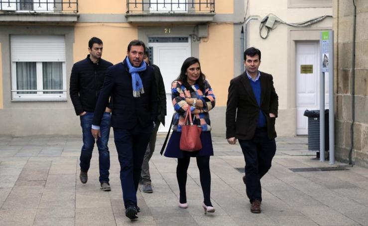 Visita de Óscar Puente a Sarria (Lugo)