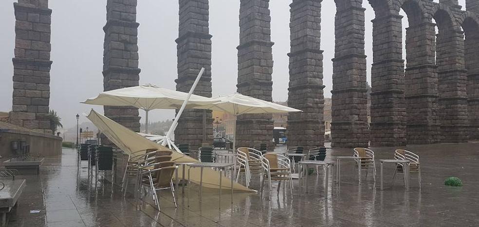 Un frente en forma de ciclogénesis explosiva dejará vientos de hasta 90 km/h en Segovia