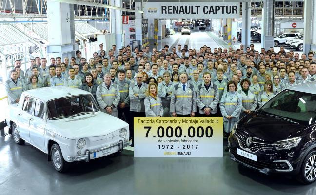 Renault llega a siete millones de vehículos fabricados en Valladolid