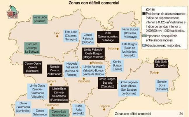 La Junta subvencionará hasta el 80% del coste de la instalación de comercios en 24 zonas rurales desabastecidas