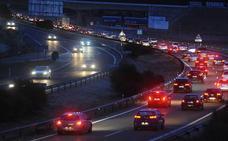 Cinco heridos en dos accidentes en la A-62 en Valladolid con ocho turismos implicados