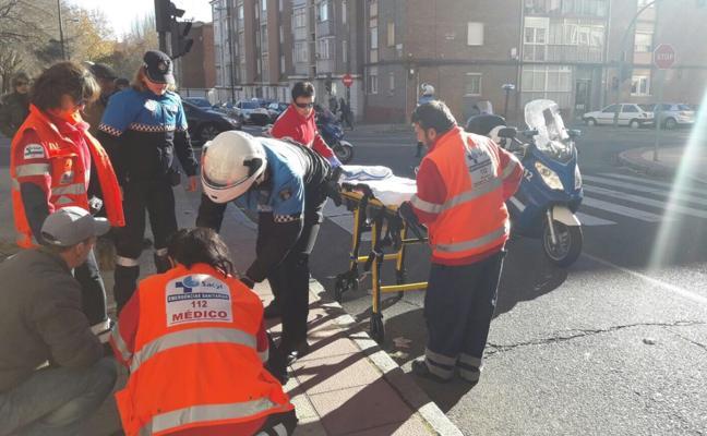 Una mujer resulta herida grave en un atropello en Valladolid capital