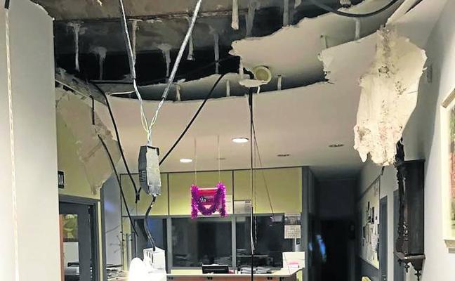 Alarma en Matapozuelos tras hundirse el techo del Consistorio