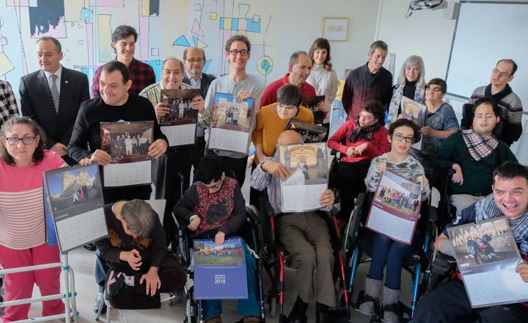 Aspace Valladolid presenta su calendario solidario 2018