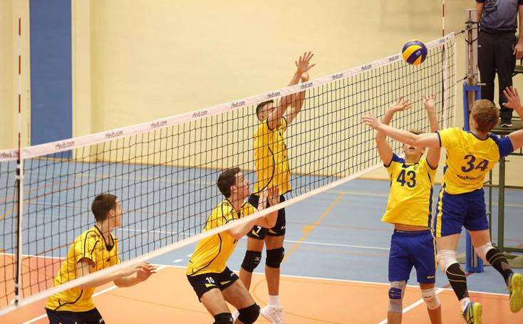 Partido de voleibol entre España y Suecia en Palencia