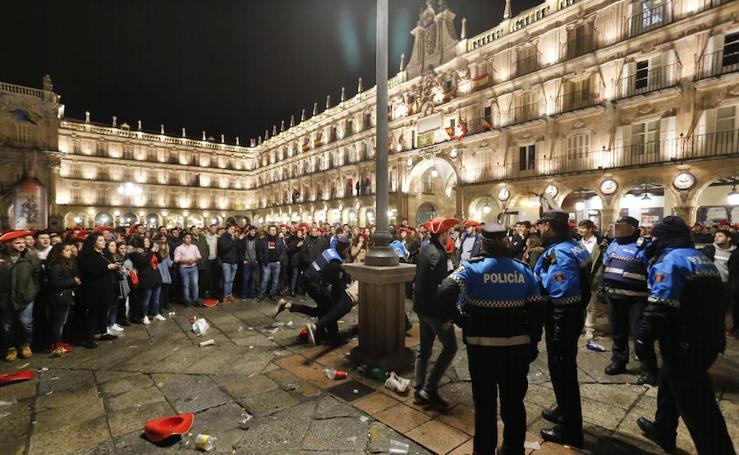 Medidas de seguridad en la Nochevieja Universitaria de Salamanca
