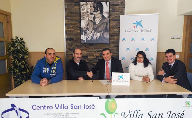 La Caixa dona 6.000 euros al centro Villa San José para construir otro invernadero