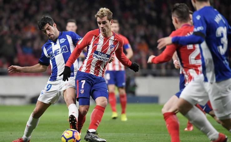 Los mejores momentos del Atlético-Alavés, en imágenes