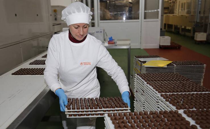 Así es la fábrica Chocolates Trapa por dentro