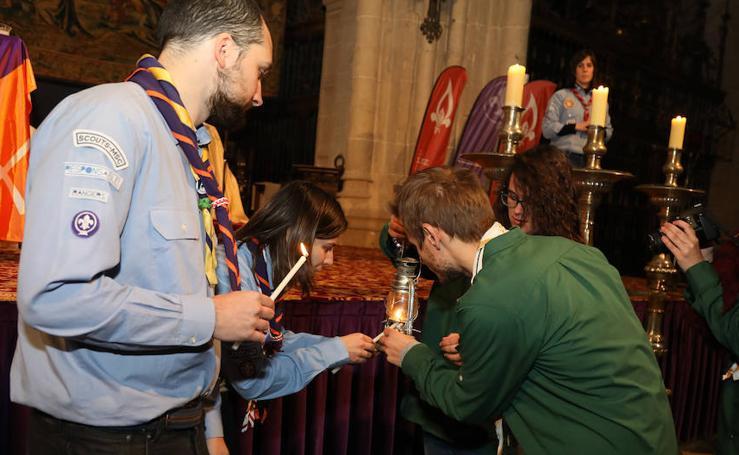 La luz de la paz de Belén llega a Palencia