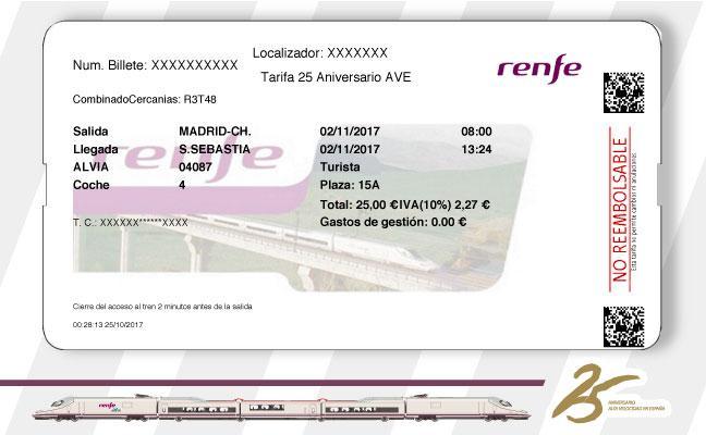 Yo logré comprar un billete de 25 euros de Renfe