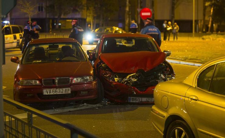 Aparatosa colisión en la Avenida de Salamanca