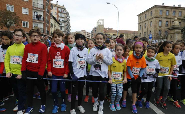 Primera y segunda carrera de la San Silvestre de Salamanca