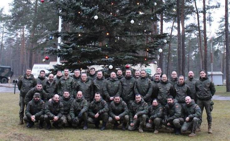 Una treintena de militares de Santovenia regresan el día 15 después de siete meses en Letonia