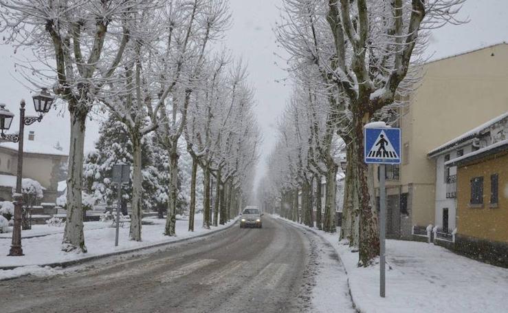 Nieve en el Espinar