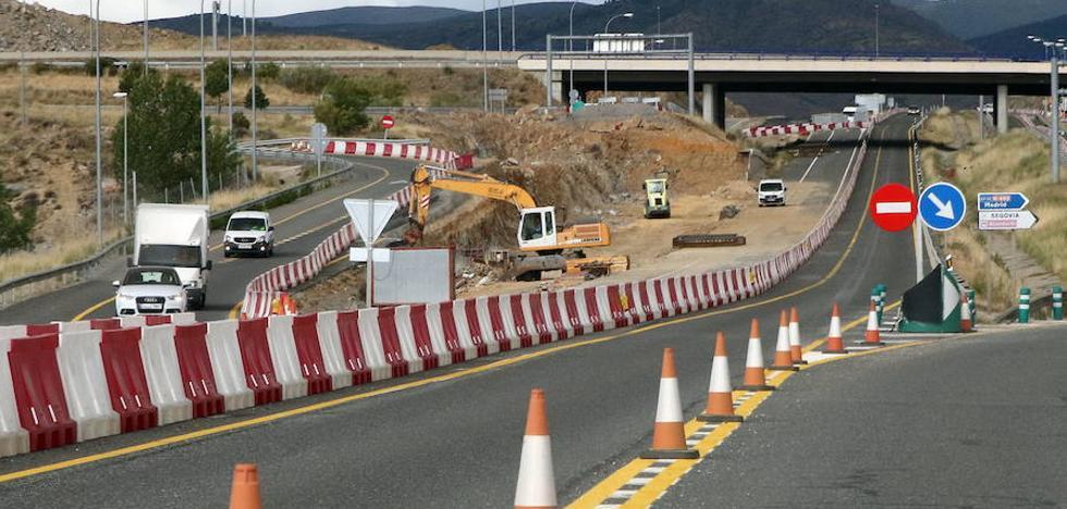 Luquero se queja de tráfico lento en Segovia capital por las obras de la SG-20
