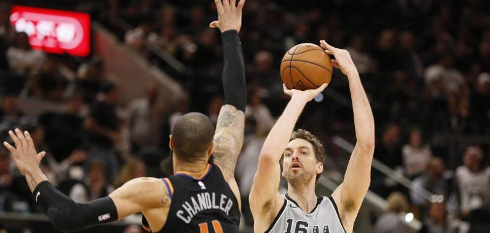 Gasol y Ginóbili guían a los Spurs en la victoria sobre los Suns