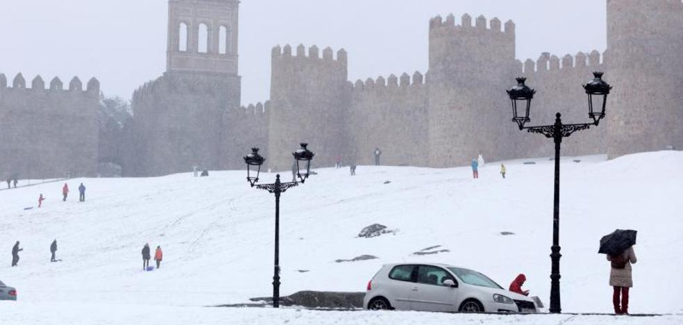 La nevada caída en Ávila ha causado diversos problemas