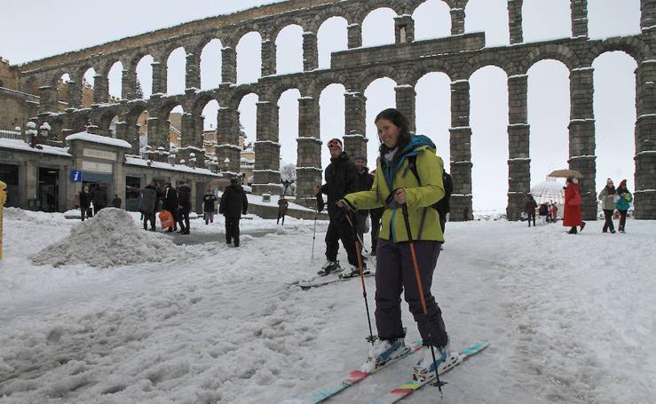 Segovia, en el centro del temporal