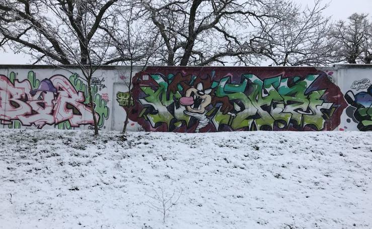 Nieve en la capital salmantina