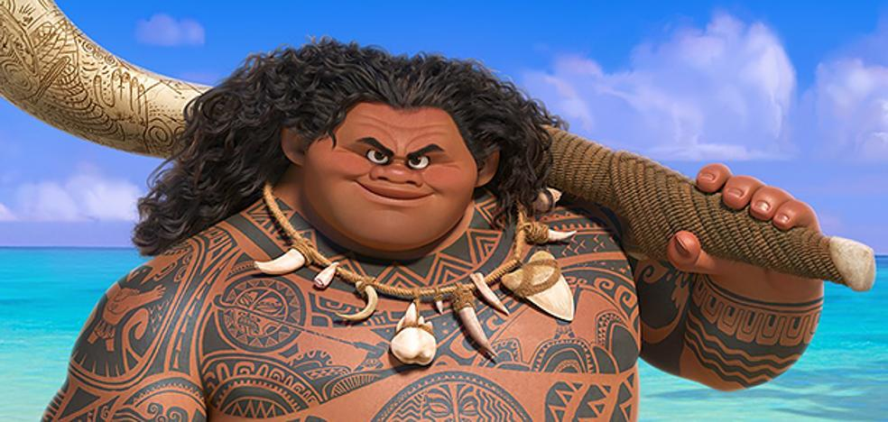 Maui (de Vaiana), existe y unas niñas le reconocen
