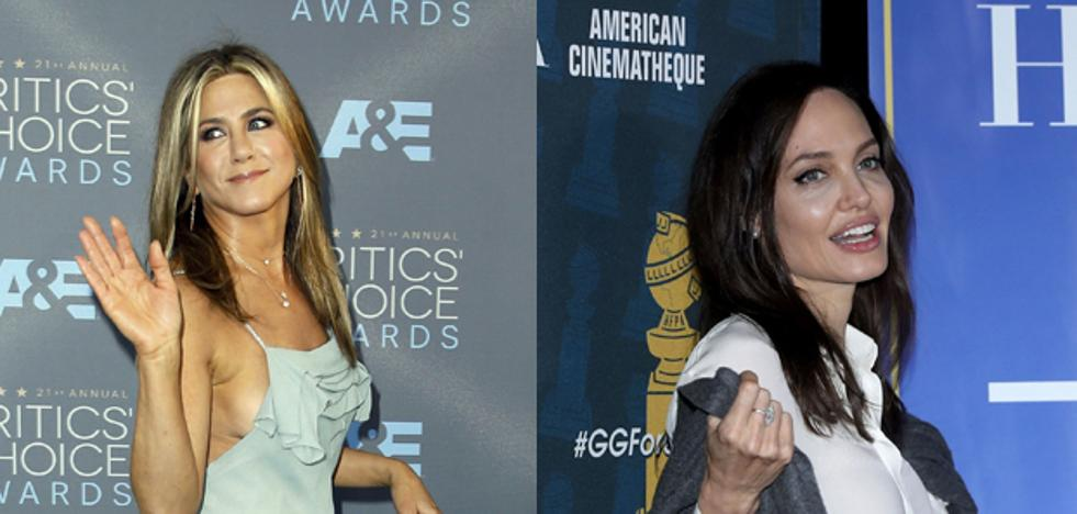 Feo gesto de Angelina Jolie hacia Jennifer Aniston
