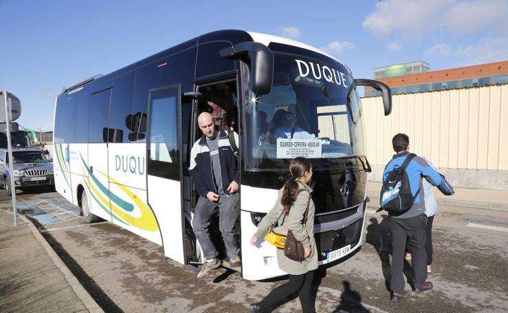Ruta de autocar entre Guardo, Cervera y Aguilar