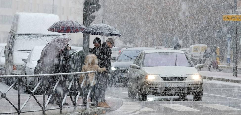 La Aemet prevé nieve y agua-nieve en la mañana del sábado en Valladolid