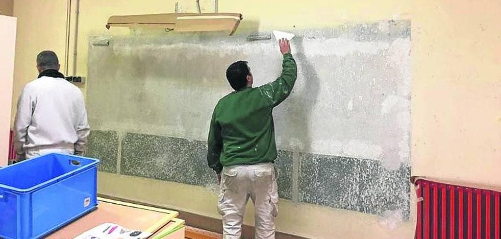 Educación realizó mejoras en los colegios de Cuéllar durante las vacaciones navideñas