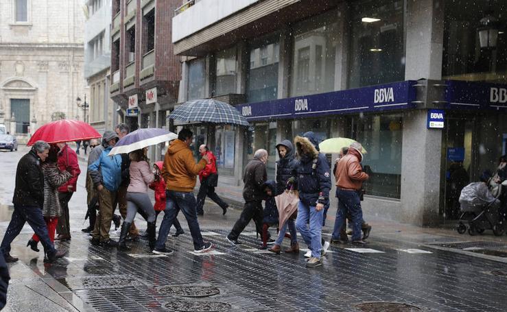 Nieva en Palencia